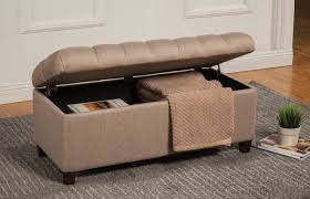 Storage Bench Furniture Tufted Storage Bench Cream Tufted Ottoman