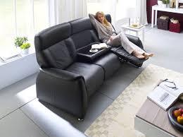 sofa mit relaxfunktion taavi relaxer 3 er sofa echtleder schwarz 3 sitzer wohnzimmer