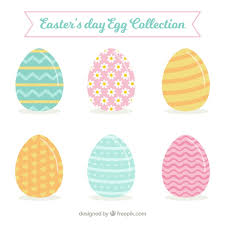 pastel easter eggs collection of pastel easter eggs vector free