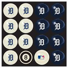 detroit tigers pool table cover detroit tigers home vs away billiard ball full set of 16 imp 50 2115