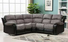 recliner sofas uk new luxury california 2c2 jumbo cord recliner corner sofa grey black