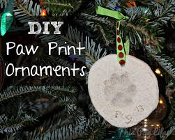 diy paw print ornaments this pug