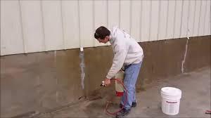 Sealing Concrete Basement Floor Stunning Sealing Concrete With Radonseal Us Sealer For Basement Wall