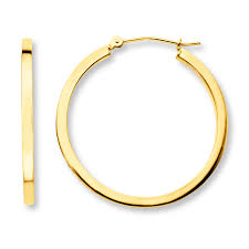 gold hoop earings hoop earrings 14k yellow gold 30mm