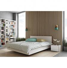 Schlafzimmer Bett Nussbaum Bett Elodea Weiß 180 X 200cm Weiß Hellbraun Schlafzimmer