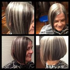 low lights in grey hair lowlights make this natural gray really modern and chic by joey