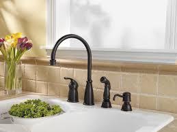 Brushed Bronze Kitchen Faucets Terrific Bronze Kitchen Sink Fixtures Unusual Kitchen Design
