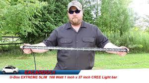 cree light bar review u box 37 inch extreme slim cree light bar review installation