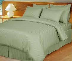 Comforter Thread Count Sage Green Damask Stripe Down Alternative 4 Pc Comforter Set 100
