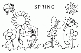 spring around coloring page for kids seasons coloring pages
