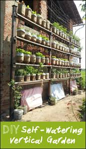 How To Build Vertical Garden - learn how to build a self watering vertical garden from recycled