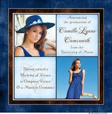 make your own graduation announcements blue graduation announcement woman s photo college