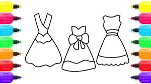 coloring pages dresses how to draw clothes for girls art