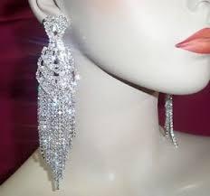 rhinestone chandelier earrings clear rhinestone ab chandelier earrings drag pageant