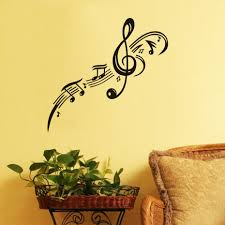 music note home decor bedroom dctop treble clef musical note wall stickers for kids