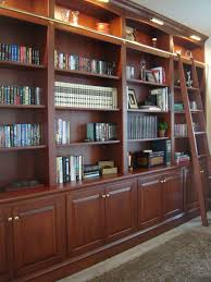 Library Bookcase With Ladder by Custom Made Bookcase Wall With Ladder By Odhner U0026 Odhner Fine
