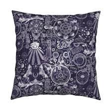 dark purple mystic occult fabric xoxotique spoonflower