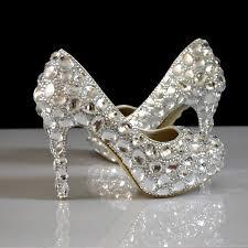 wedding shoes platform rhinestone women wedding shoes white bridal shoes big size