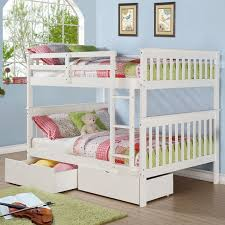 Donco Kids Mission Full Over Full Bunk Bed With Storage  Reviews - Full over full bunk bed
