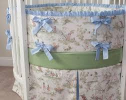 round crib bedding etsy