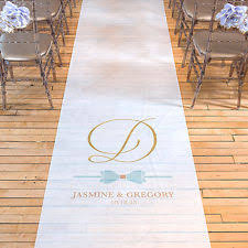personalized wedding aisle runner personalized aisle runner ebay