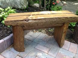 small bench made from bug wood pine tree homemade pinterest
