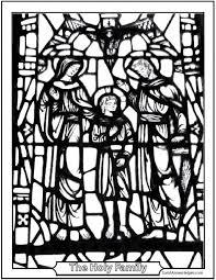holy family coloring jesus mary joseph