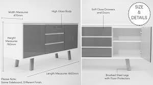 Black Gloss Sideboards Cheap Modern White Gloss Sideboard Soft Close White Doors