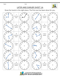 Spanish 1 Worksheets Math Clock Worksheets To 1 Minute Printable Time Telling The Min