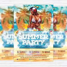 summer party vol 3 u2013 premium flyer template facebook cover