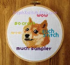 Doge Meme Pictures - doge meme pdf cross stitch pattern stephxstitch