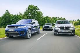 porsche cayenne vs bmw x5 bmw x5 m vs ranger rover sport svr vs porsche cayenne turbo s