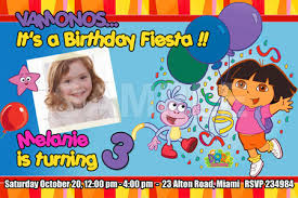 dora invitation birthday party upadesigns on artfire