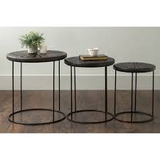 Eastern Accents Furnitures East At Main U0027s Bartlett Brown Round Mango Wood Accent Nesting