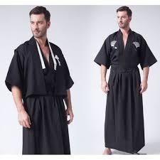 robe de chambre japonaise homme kimono noir homme achat vente pas cher