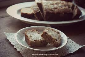apple cinnamon poundcake thm e gluten free dairy free a home