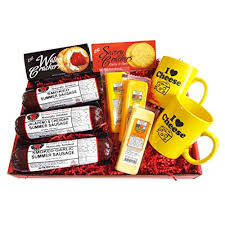 Cheese And Sausage Gift Baskets I Love Cheese Gourmet Gift Basket Features Smoked Summer Sausages