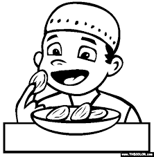 eating dates coloring free eating dates coloring