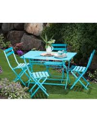 Folding Bistro Table And 2 Chairs Amazing Shopping Savings Corvus Cielo Outdoor 5 Blue