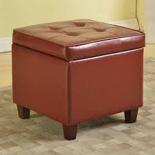 homepop faux leather storage ottoman leather sofa guide