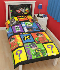 about lego batman cards single rotary duvet cover bed set new gift