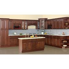 kitchen l shaped walnut kitchen cabinet designed with island and