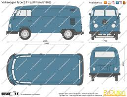 volkswagen bus drawing the blueprints com vector drawing volkswagen type 2 t1 split panel