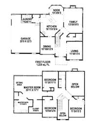 2 story house blueprints 2 story 4 bedroom house floor plans home decorating interior