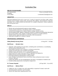 sample resume for nursing student nurse technician resume