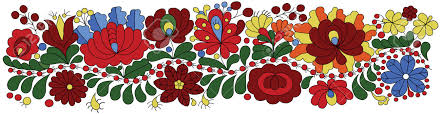 hungarian embroidery pattern traditional folk ornament royalty
