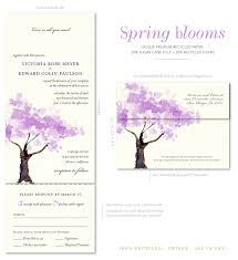 seal and send wedding invitations blooms tree watercolor on 100 recycled paper