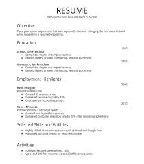 easy resume exles easy resume format haadyaooverbayresort basic template