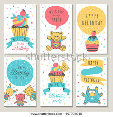 happy birthday cards birthday cute lion stock vector 425916850