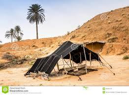 desert tent the berber tent in the desert africa stock photo image